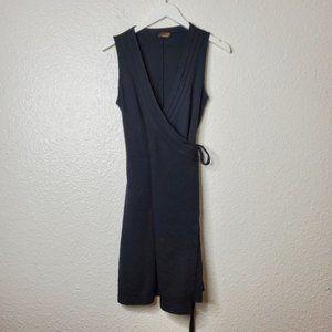 Athleta Black Sleeveless Wrap Dress Size Small